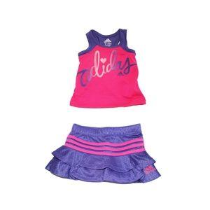 ADIDAS BABY GIRLS' TOP AND SKORT SET - PINK (3M)